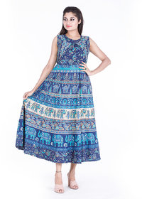 Dhruvi Casual or Party Wear  Long Cotton Maxi Dress for Women and Girls in Free Size