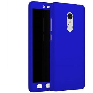 Lenovo K6 Power Flip Cover by Front  Back Cover With Tempered Glass 360 Degree Protecter Mobile Case Cover - Blue