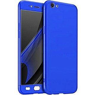 Vivo V5 Plus  Front  Back Cover With Tempered Glass 360 Degree Protecter Mobile Case Cover - Blue