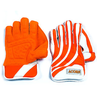 Acorn Pure Leather Wicket Keeping Gloves (Comfortable) - Made with top Quality