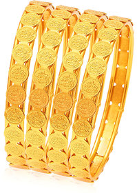 Sukkhi Glamorous Temple Jewellery Gold Plated Coin Bangles For Women