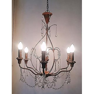 Antique Handicrafts Store 6 Heads Iron Chandelier Living Room Ceiling Light Pendent Light