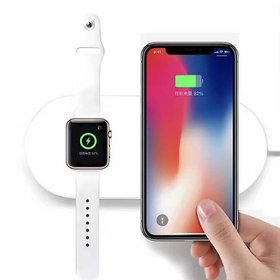 iBubble  2 in 1 Fast Wireless USB Pad Phone Adapter Qi Wireless Charger Fast Charging for Watch 3 ip X 8 Plus