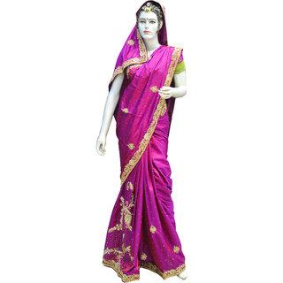 Indians Boutique  Calcutta Handwork  Saree  ( Purple)