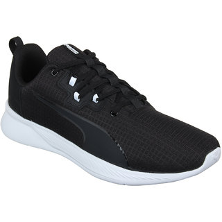 Puma MenS Tishatsu Runner Puma Black-Puma White Black Sports Shoe