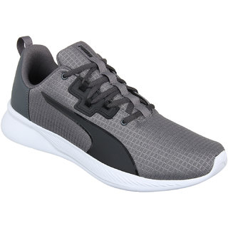 Puma MenS Tishatsu Runner Iron Gate-Puma Black Black Sports Shoe