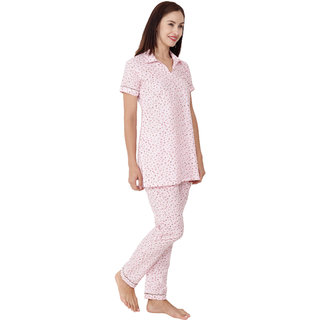 Buy Apella Women Pink Cotton Night Suit Online - Get 38% Off 28d034880
