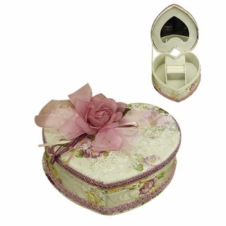 AVMART Purple Heart Cosmetic, Makeup, Jewellery, Storage Travel Organizer Vanity Box, Gift Home Decor, Utility Box