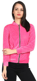 Raabta Baby Pink Velvet Semi winter Jacket