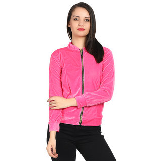 Raabta Baby Pink Velvet Semi winter Jacket