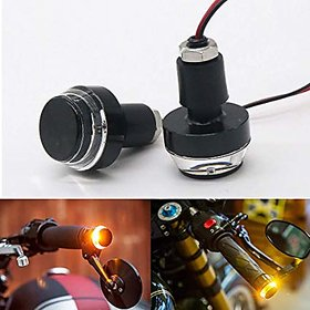 HJB High Quality Motorcycle Bar End Lights With Indicator Blinking Lights