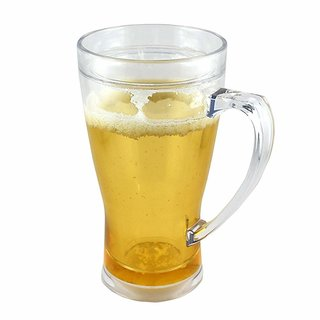 KARTIK Beer Mug - 400ml  Premium Quality  Beer Glass Mug (Pack of 1)