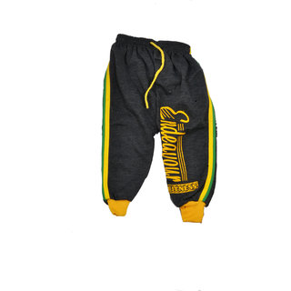 ISHU Kids Cotton Multicolor Rib Track Pant
