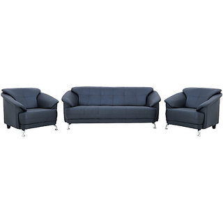 houzzcraft edo (3+1+1)-sofa set in black colour