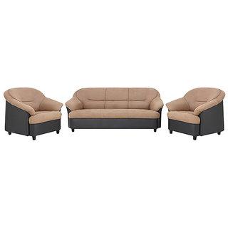 houzzcraft madisson (3+1+1) sofa set in beige