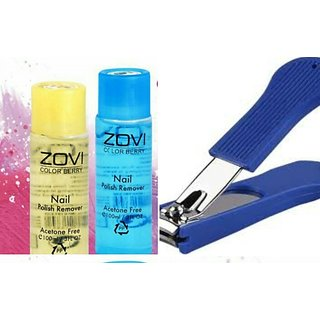2pc Nail Clipper + 2pc ZOVI Nail Remover