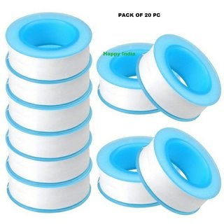 TeflonTape For Plumbing PTFE for Water Pipe Thread Sealing  pack of 20 Pieces