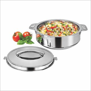 Rema - Insulated Casserole Hot Pot Food Storage Box Stainless Steel 1800ml Keeps Food Warm Fresh Easy to Carry Con
