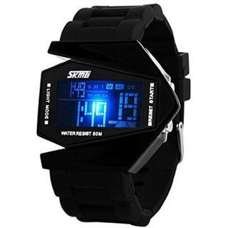 Skmei Digital Quartz Black & Blue Casual Watch For Men
