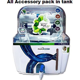 RO UV UF TDS Mineral  Water Purifier Electric  RO System  Swift Desire Modal-Tank 15ltr,With FREE 5 PC Antiscalant Ball