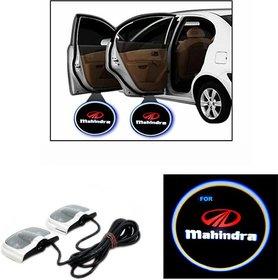 Mahindra Logo Car Shadow Door Light / Ghost Shadow Door Lights with Mahindra Logo (works with all cars)