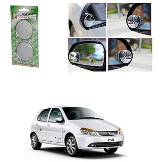 KunjZone Set of 2 Blind Spot Rear View Convex Mirror For Tata Indica eV2