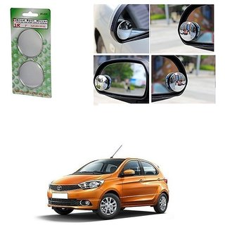 KunjZone Set of 2 Blind Spot Rear View Convex Mirror For Tata Tiago