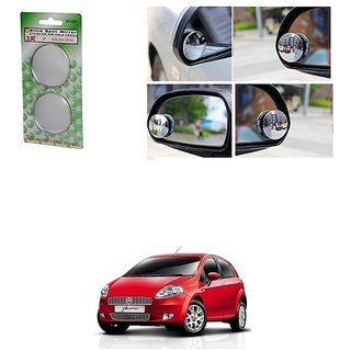 KunjZone Set of 2 Blind Spot Rear View Convex Mirror For Fiat Punto