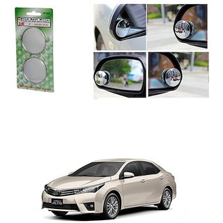 KunjZone Set of 2 Blind Spot Rear View Convex Mirror For Toyota Altis