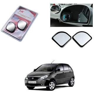 KunjZone 3R Triangle Car Blind Spot Side Rear View Mirror 3R065 Set of 2 For Tata Indica Vista