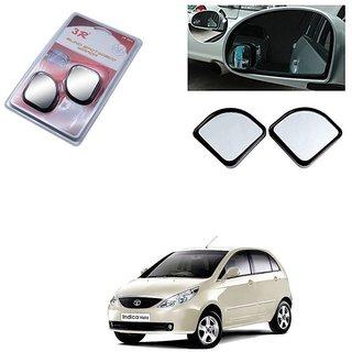 KunjZone 3R Triangle Car Blind Spot Side Rear View Mirror 3R065 Set of 2 For Tata Vista