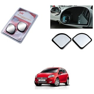 KunjZone 3R Triangle Car Blind Spot Side Rear View Mirror 3R065 Set of 2 For Fiat Punto