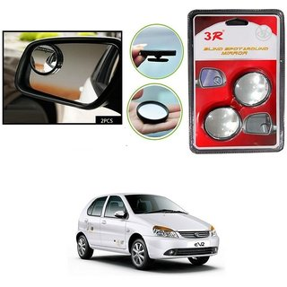 KunjZone Set of 2 Brand New Round Shaped Rear Side Blind Spot Mirror For Tata Indica eV2