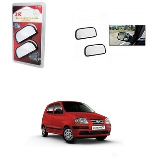 KunjZone 3R Wide Rectangle 3r066 Car Blind Spot Side Rear View Mirror (Set of 2) For Hyundai Santro Xing