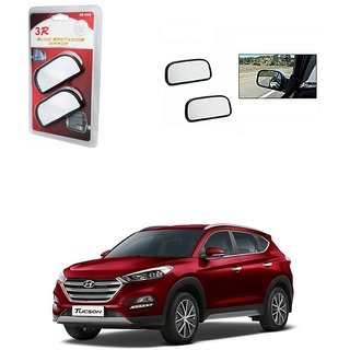 KunjZone 3R Wide Rectangle 3r066 Car Blind Spot Side Rear View Mirror (Set of 2) For Hyundai Tucson