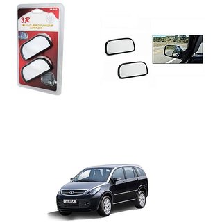 KunjZone 3R Wide Rectangle 3r066 Car Blind Spot Side Rear View Mirror (Set of 2) For Tata Aria