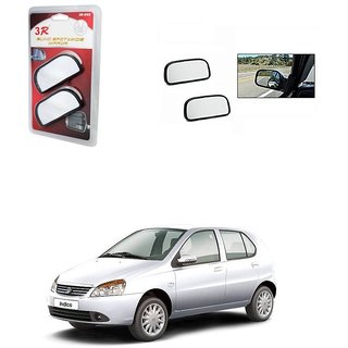 KunjZone 3R Wide Rectangle 3r066 Car Blind Spot Side Rear View Mirror (Set of 2) For Tata Indica