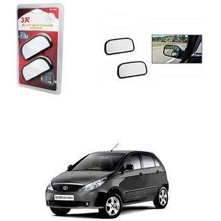 KunjZone 3R Wide Rectangle 3r066 Car Blind Spot Side Rear View Mirror (Set of 2) For Tata Indica Vista