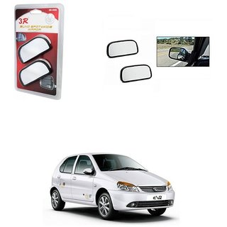 KunjZone 3R Wide Rectangle 3r066 Car Blind Spot Side Rear View Mirror (Set of 2) For Tata Indica eV2