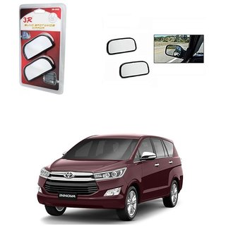 KunjZone 3R Wide Rectangle 3r066 Car Blind Spot Side Rear View Mirror (Set of 2) For Tata Innova Crysta