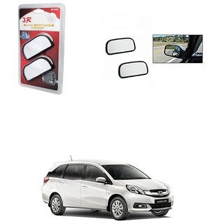 KunjZone 3R Wide Rectangle 3r066 Car Blind Spot Side Rear View Mirror (Set of 2) For Honda Mobilio