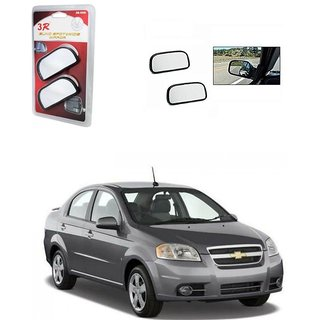 KunjZone 3R Wide Rectangle 3r066 Car Blind Spot Side Rear View Mirror (Set of 2) For Chevrolet Aveo