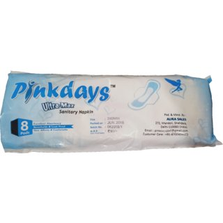 Pinkdays Ultra Max Super Absorbent Soft and Comfortable Sanitary Pads/Napkin(8 Pads)