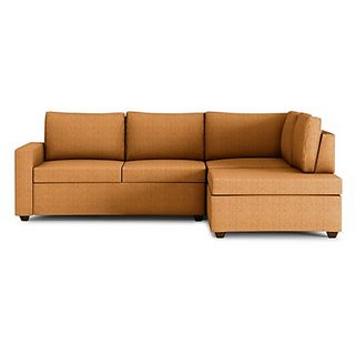 houzzcraft comfort L shaped sofa in brown