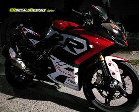 TVS APACHE RR310 Custom Decals/ Stickers/ Wrap RACE KIT-1