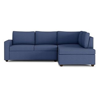 houzzcraft comfort L shaped sofa in blue
