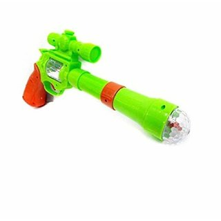 Elegant Strike Gun Toy with 3D Projection Lights and Music, 12-inch (Multicolour)