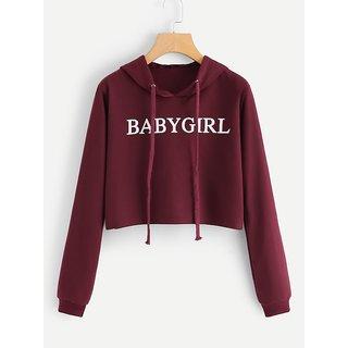 Raabta Fashion Maroon Hooded BABY Girl Pullover Sweatshirt