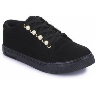 Riuon Stylish Black Casual Sneaker For Women