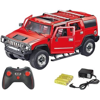 Rechargeable Remote Control Hummer Toy Car -Red